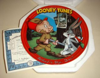 Looney Tunes Bugs Bunny Elmer Fudd Whats Up Doc Plate
