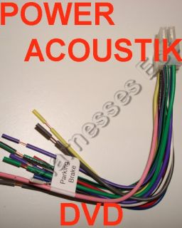 Power Acoustik Wiring Harness. . Wiring Diagram on
