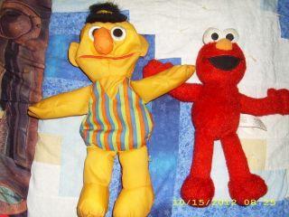 Sesame Street Elmo Bert plush toys