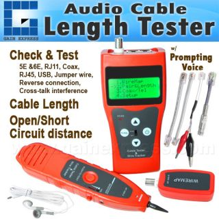 Network Cable Tester Hunting Wire Sorting Coax Cable Length Tester
