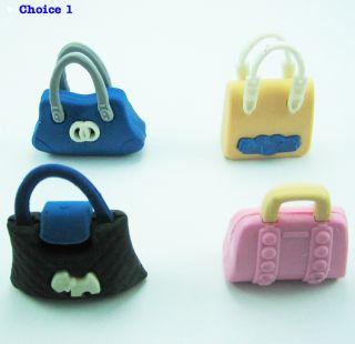 Wacky Erasers Collectible Rubber Puzzle Eraser Ladies Handbag Shopping