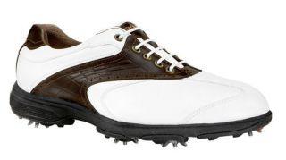 Etonic Mens Sport Tech Golf Shoe New White Dark Brown