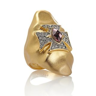 Love & Rock by Loree Rodkin Maltese Cross Hammered Ring at