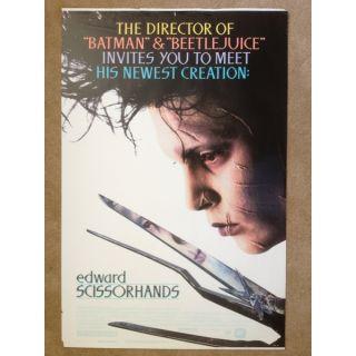 Edward Scissorhands Johnny Depp Original Theater Lobby Poster