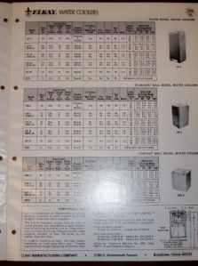 Vtg Elkay Mfg Co Catalog Water Cooler Drinking Fountain