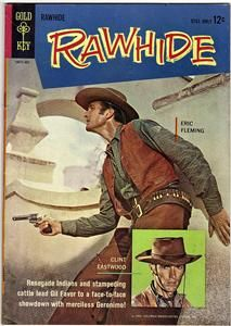 Rawhide 2 Gold Key 1963 Fine Eric Fleming Clint Eastwood Photo Cover