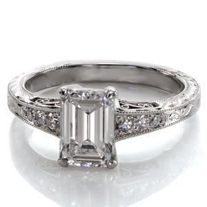 12 Ct Emerald Cut Engagement Ring 14k Solid Gold