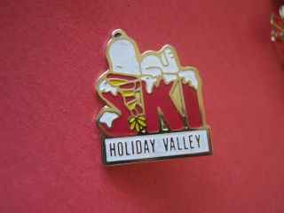 Snoopy Peanuts Holiday Valley Ellicottville NY Ski Lapel Pin 2