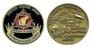 Fort Eustis Army Transportation Challenge Coin