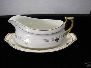 Vintage Edwin M Knowles China Co Vitreous Gravy Boat