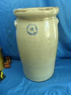 Antique Elmendorf Texas Pottery 8 Gallon Butter Churn