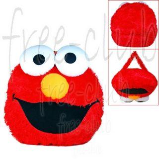 Sesame Street Elmo Head Throw Pillow Plush Cushion
