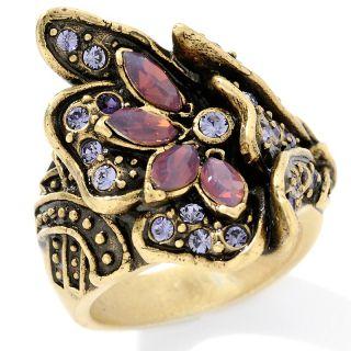 Heidi Daus Heavenly Bloom Crystal Accented Flower Ring at