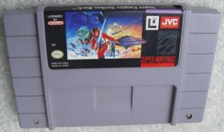 Super Empire Strikes Back SNES Super Nintendo Game Fun Star Wars