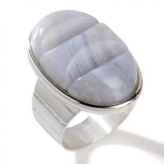 Jay King Blue Lace Agate Doublet Sterling Silver Oval Ring