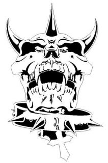 Skull 10 Punk Rock Airbrush Stencil Air Brush Template