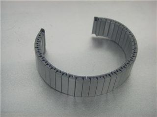 TWIST O FLEX STAINLESS STEEL WATCH BAND 16MM GRAY