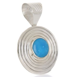 Jay King Sleeping Beauty Turquoise Sterling Silver Pendant