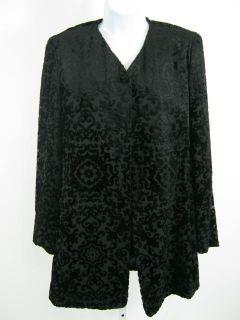 Emanuel UNGARO Black Velvet Jacket Blazer Coat Size 4