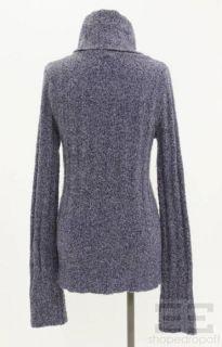 Emanuel Emanuel UNGARO Purple Wool Cashmere Turtleneck Sweater Size P
