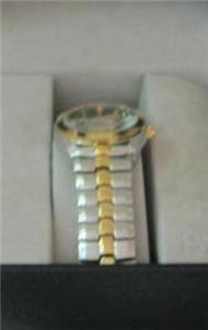 Embassy by Gruen Ladies Quartz Wrist Watch in Gold Silver with Genuine