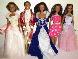 African American Barbie Dolls Lot