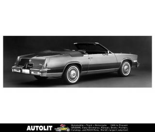1984 Cadillac Eldorado Biarritz Convertible Factory Photo