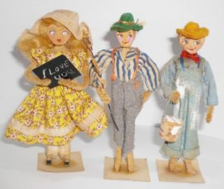 FolkArt Huckleberry Finn Toys Eubank Dolls Mark Twains Tom Sawyer