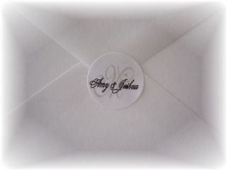 Personalized Monogram Wedding Envelope Seals Stickers