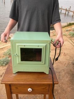 Antique Metal Griswold Erie Pa No 3 Electric Pie Oven Green 110 Volt