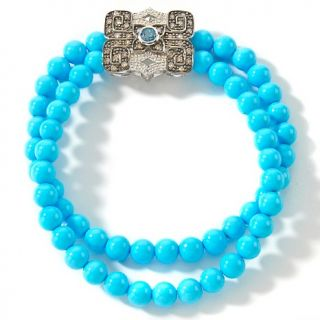 Heritage Gems .73ct Sleeping Beauty Turquoise, London Blue Topaz and