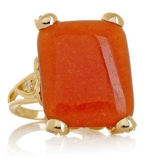 Jewelry Rings Gemstone Technibond® Bold Red Aventurine Statement