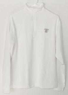 NFL Football Team Equipment Zip Play Dry Shirt White
