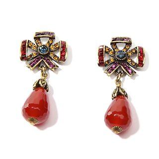 Heidi Daus American Icon Swag Crystal Drop Earrings