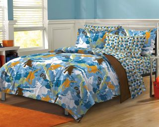NEW Extreme Sports Blue Teen Boys Bedding Comforter Sheet Set