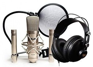 CAD Recording Studio Three Microphone and Headphone Package GXL2200SSP