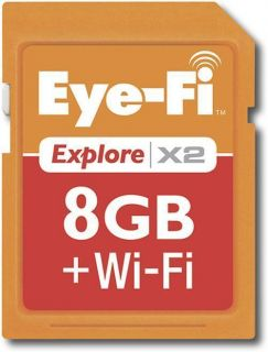 Eye Fi Explore X2 WiFi B G N 8GB SDHC Memory Card Eyefi