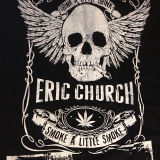 Eric Church Local Crew Shirt XXL Black New Never Worn