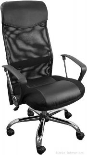 Black High Back Mesh Leather Computer Office Desk Chair