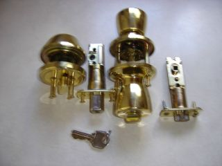Entry door lock set dead bolt and door lock combo brass door lock