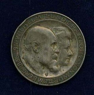 Germany Wurttemberg 1911 F 3 Mark Silver Coin XF