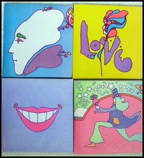4x PETER MAX 1960s RETRO COSMIC ENVELOPE w/ EXPO 74 STAMP psychedelic