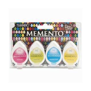 105 7519 scrapbooking memento dew drops dye inkpad 4 pack beach party