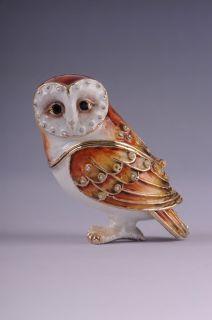 Faberge Owl trinket box by Keren Kopal EASTER EGGS Swarovski Crystal