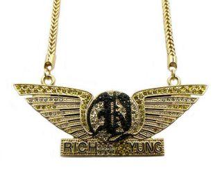 Gold Fabolous Rich Yung Pendant Necklace Chain New