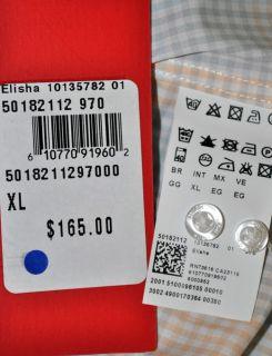 HUGO BOSS RED Elisha Button Shirt Slim Fit Cotton New NWT $165 Mens