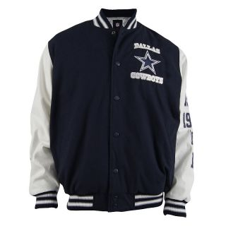 Football Fan Dallas Cowboys White Sleeve Cotton Canvas Jacket
