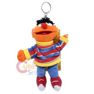 sesame street ernie plush key chain w coin pocket 7in
