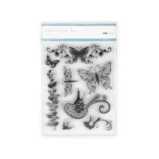 106 7245 kaisercraft kaisercraft clear stamps flora and fauna note