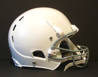 x2 white youth large regular football helmet kids face mask chin strap